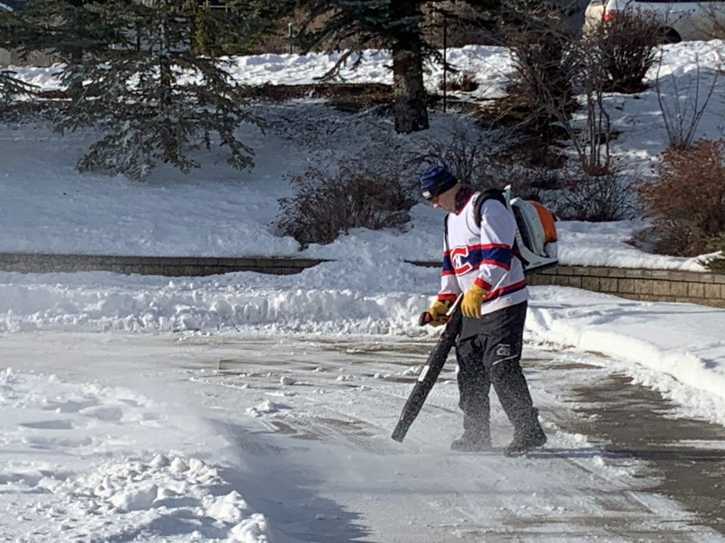 Working hard to clear the snow 2021